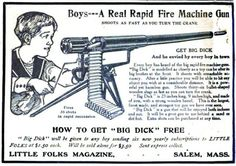 Back when toys were toys. If you survived and got bored with lawn darts, break out big dick. Had I seen this ad, I would have earned & ordered it!