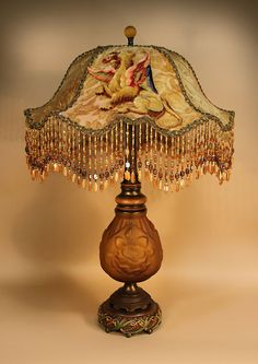 Antique Table Lamps Value Gorgeous 262 Best Lamps  Vintage Beaded Victorian Images On Pinterest