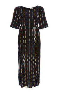 Beaded Stripes Dress