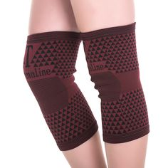 high elastic breathable bamboo charcoal knee support tourmaline magnetic knee brace pad patella 1 pair