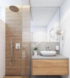 50 Stunning Small Bathroom Makeover Ideas 36 – Home Design Bathroom Red, Chic Bathrooms, Bathroom Storage, Bathroom Ideas, Master Bathroom, Restroom Ideas, Bathroom Showers, Diy Shower, Bathroom Layout