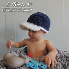 Ravelry: Crochet Baseball Cap Pattern - 4 Sizes pattern by Crochet It Baby