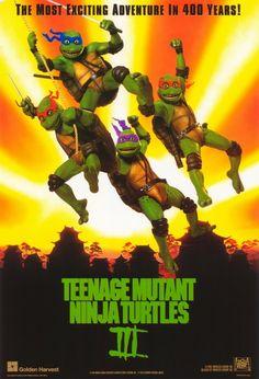 Teenage Mutant Ninja Turtles III , starring Elias Koteas, Paige Turco, Stuart Wilson, Sab Shimono. The turtles find themselves transported back in time to ancient Japan. #Action #Adventure #Comedy #Family #Fantasy #Sci-Fi