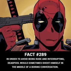 Classic Deadpool I feel ya Wade. It sucks that I can't do it, too. Deadpool Facts, Deadpool Funny, Deadpool And Spiderman, Funny Marvel Memes, Marvel Jokes, Dc Memes, Funny Comics, Deadpool Quotes, Marvel Comics