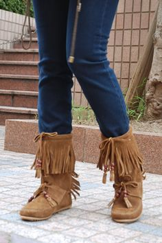 woodstock fringe boot