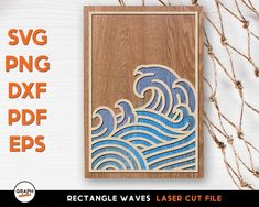 Graphaholic Laser Cut Files, Cutting Files, Waves, Pdf, Silhouette Projects, Ocean Waves, Beach Waves, Wave
