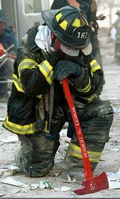 Firefighters on 9/11 who were willing to give their lives to save others' are true heroes for me.