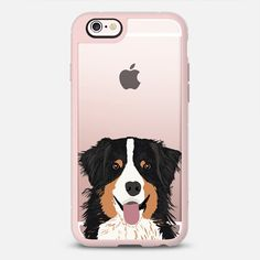 Australian Shepherd black and tan cute dog gift for aussie owners transparent iphone6 cell phone case - New Standard Case