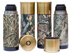 Camo thermos containers look like shot gun shells.