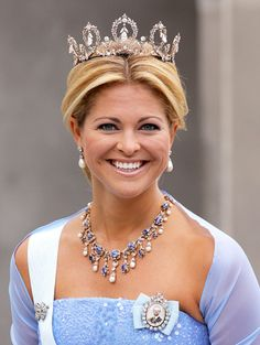 Connaught Tiara worn by Princess Madeleine of Sweden.
