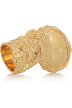 Yves Saint Laurent sets the gold standard with this plated 'Arty' ring.