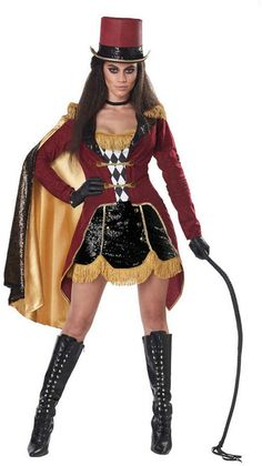 Dazzling Ringmaster Jacket Dress Halloween Circus Costume Adult Women 01452 for sale online Circus Halloween Costumes, Halloween Costume Couple, Halloween Dress, Women Halloween, Lion Halloween, Halloween Fashion, Family Halloween, Halloween 2020, Spirit Halloween