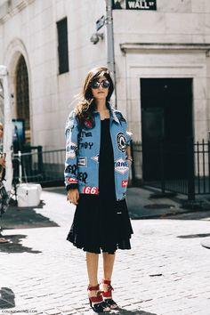 New York Fashion Week Spring Summer 2016 Street Style Jessica Minkoff Diesel Black And Gold Valentina 790x1185