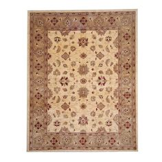 Herat Oriental Afghan Hand-knotted Oushak Ivory/ Rug