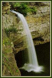 photo of waterfall near Mentone, Alabama plus attractions near Mentone are listed here