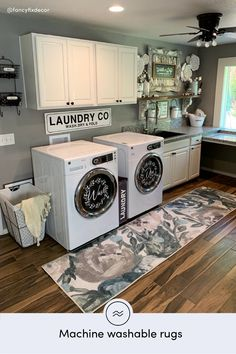 See how styles her Ruggable machine washable rug! It can the perfect rug in order to fight against stains plus spills. Mudroom Laundry Room, Laundry Room Remodel, Farmhouse Laundry Room, Laundry Room Design, Laundry Room Organization, Laundy Room, Laundry Room Inspiration, Diy Kit, Basement Remodeling