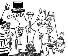 moominvalleytales: Happy New Year! Moomin Wallpaper, Moomin Books, Moomin Valley, Fuzzy Felt, Tove Jansson, Rainy Day Activities, Stop Motion, Finland, Manga Anime