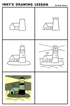 Inky's Drawing Lesson: Lighthouse