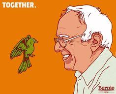 #BirdiSanders.  #feelthebern