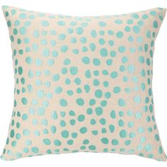 Pebble Parade Ocean Embroidered Pillow ($96) ❤ liked on Polyvore featuring home, home decor, throw pillows, pillows, furniture, bedding, turquoise accent pillows, cream throw pillows, ocean home decor and seaside home decor