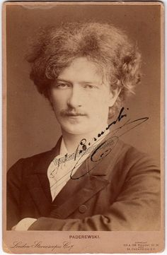 Polish pianist, composer and politician (1860-1941), a star pianist in his time. Gorgeous cabinet photo signed by him, a photo by London Stereoscopic & Photographic Company, London. Size is 4.25 x 6.5