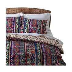 Mudhut Talavera Comforter Set - Multicolored ($90) ❤ liked on Polyvore featuring home, bed & bath, bedding, comforters, multicolor, reversible comforter sets, king size bed sets, king bedding sets, king bed set and king comforter
