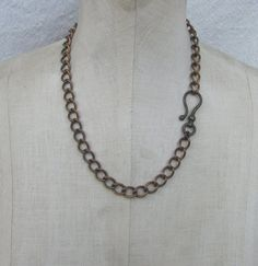 SALE 1pc Vintage 12 x 9mm curb chain Necklace XL by madmadcrafter, $15.00