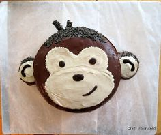"""Monkey Cake for """"Monkey Boy"""" coming back on his mission!"""