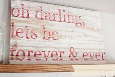 Darling - Hand Painted Sign (ready to ship). $45.00, via Etsy.