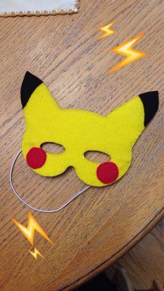 Pikachu felt mask …