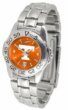 Tennessee Sport Anonized Women's Steel Band Watch by SunTime. $63.64. Officially Licensed Tennessee Vols Ladies Stainless Steel Dress Watch. Links Make Watch Adjustable. Stainless Steel-Scratch Resistant Crystal. Women. AnoChrome Dial Enhances Team Logo And Overall Look. This handsome, eye-catching watch comes with a stainless steel link bracelet. A date calendar function plus a rotating bezel/timer circles the scratch resistant crystal. Sport the bold, colorful, high qual...