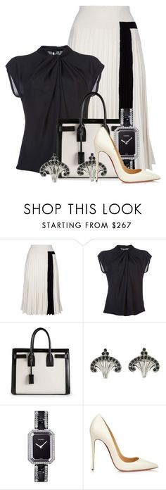 """""""Untitled #464"""" by merida ❤ liked on Polyvore featuring Sonia Rykiel, Diane Von Furstenberg, Yves Saint Laurent, Chanel and Christian Louboutin"""