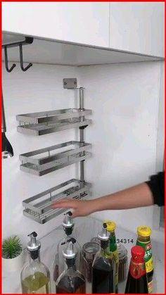 Kitchen Pantry Design, Diy Kitchen Storage, Modern Kitchen Design, Home Decor Kitchen, Interior Design Kitchen, Interior Modern, Kitchen Ideas, Modern Decor, Corner Storage