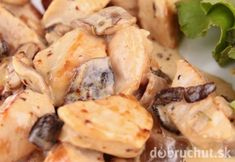 Slow cooker chicken stew with white wine. Cubed chicken with mushrooms and dry white wine cooked in slow cooker. Slow Cooker Chicken Stew, Dry White Wine, Mushroom Chicken, Potato Salad, Stuffed Mushrooms, Meat, Cooking, Ethnic Recipes, Food