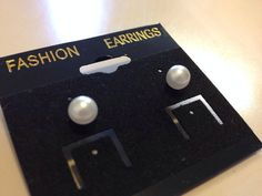 Delicate 5 mm Pearl Stud Earrings by originalsbyem on Etsy Pearl Stud Earrings, Fashion Earrings, My Etsy Shop, Delicate, Creative, Handmade, Hand Made, Pearl Studs, Arm Work