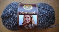 My Empty Nest: Lion Brand Heartland Yarn  Crochet scarf pattern