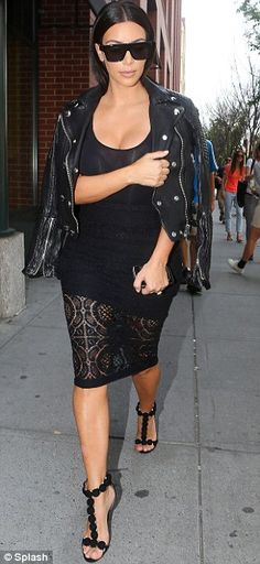 Ready for her night: Kim headed out into Manhattan as she prepares to attend Cannes Lions ...