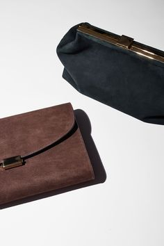 01070d3226c Purse Clutches   New shapes inspired by vintage finds in jewel tones from  Mansur Gavriel Fall