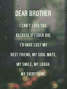 EXCLUSIVE Brother And Sister Quotes: Just AMAZING! - BayArt brother sister sayings<br> POWERFUL selection of brother and sister quotes perfectly sum up your unique and special relationship. Some sayings are funny or deep, but all are truth. Love My Brother Quotes, Missing My Brother, Brother And Sister Relationship, Brother Birthday Quotes, Brother And Sister Love, Sister Sayings, Quotes About Brothers, Sibling Quotes Brother, Missing Family Quotes