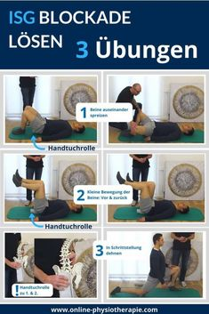 Resolve ISG blockade: 5 exercises for the sacroiliac joint (including video) - skincare women Fitness Hacks, Fitness Workouts, Yoga Fitness, Fitness Motivation, Health Fitness, Mens Fitness, Health Cleanse, Yoga Pictures, Cool Yoga Poses