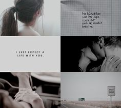 """""""I don't expect a normal life. I just expect a life with you."""""""