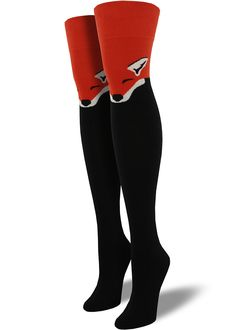 adfa544ff Cute fox socks for women come in an adorable over-the-knee length with