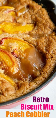 This Bisquick Peach Cobbler Recipe is most likely something that your Grandma whipped up in the or and it is still delicious and easy to make today! Bisquick Cobbler Recipes, Peach Cobbler With Bisquick, Carbquik Recipes, Peach Cobblers, Fruit Cobbler, Berry Cobbler, Biscuit Mix, Just Desserts, Awesome Desserts