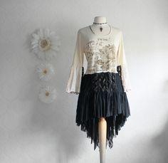 Bohemian Style Long Tunic Women's Beige by BrokenGhostCouture, $82.00