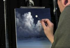 Moonlit Night Sky Cl