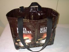 Kassi kahvipusseista. Tässä käytetty 12 pussia. Coffee Bags, Recycling, Lunch Box, Ideas, Coffee Sacks, Bento Box, Repurpose, Thoughts, Upcycle