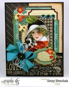 Love is a 4 Legged Word Card by Ginny! Love this #Graphic45 #cards