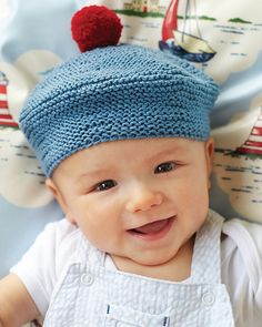 Ravelry: French Beret pattern by Debbie Bliss Knitting Patterns Free, Knit Patterns, Free Knitting, Baby Knitting, Crochet Baby, Knit Crochet, Knitting For Kids, Knitting Projects, Knitted Beret