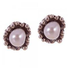 LABRUIXETA  pendiente plata y perla
