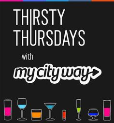 Join us for MyCityWay drink specials and free giveaways at a different bar each week!